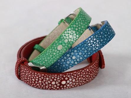 Bracelet bijoux Kahen en Galuchat