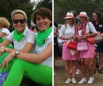 Les duos de golfeuses ravies de leurs cadeaux Accesstory