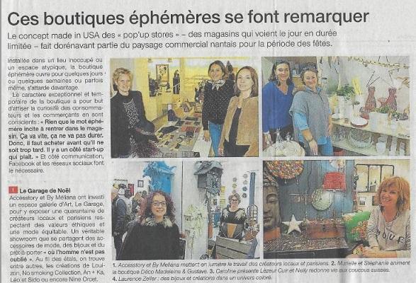 Article Ouest France décembre 2016