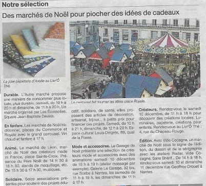 Article Ouest France - décembre 2016