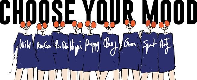 Choose your mood, Be Parisian !