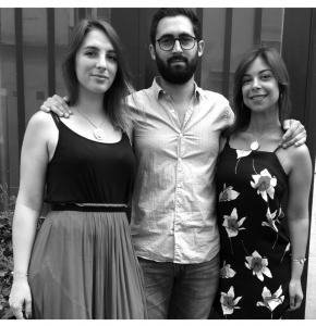 Les créateurs Paola, Léa et Arnaud